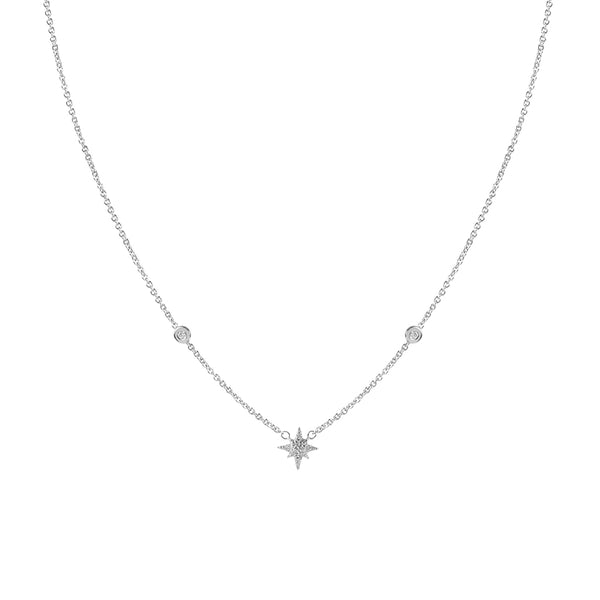 PAVE DIAMOND SHINING STAR NECKLACE