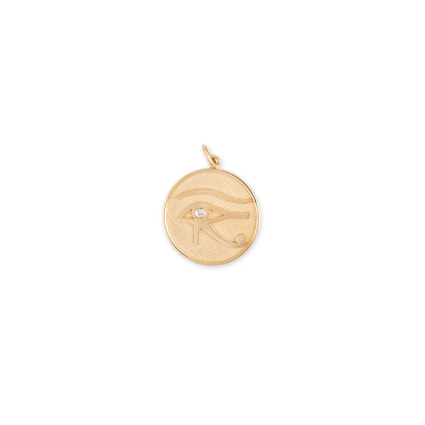 DIAMOND EYE OF HORUS + STRENGTH DISC CHARM