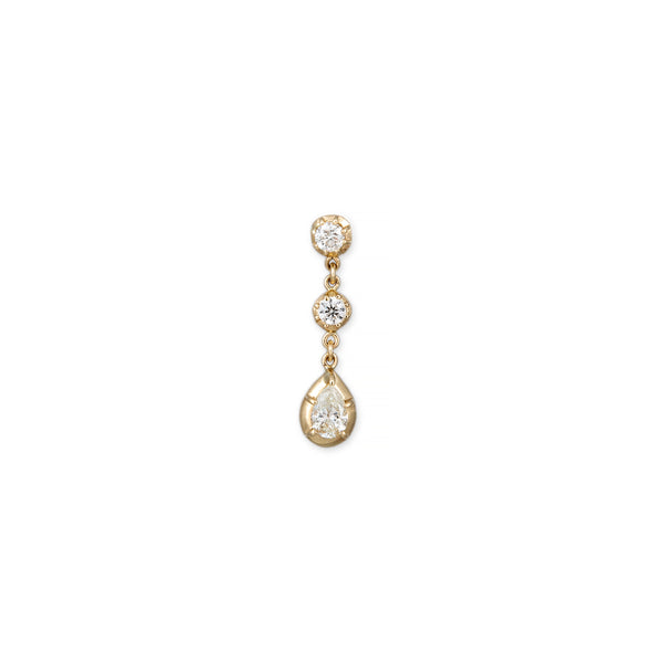 SOPHIA 2 +1 DIAMOND TEARDROP DROP STUD