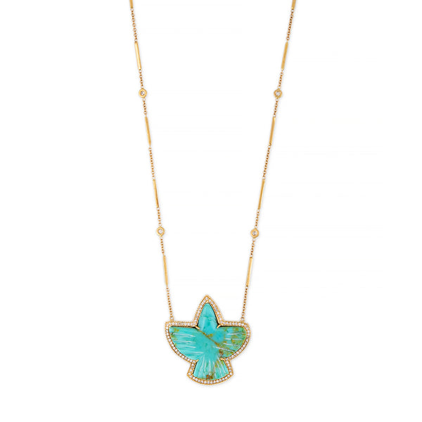 PAVE TURQUOISE THUNDERBIRD NECKLACE