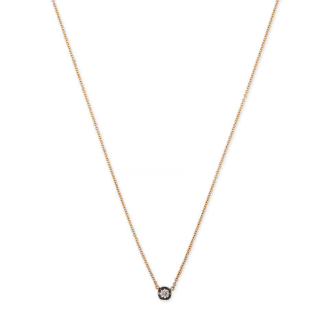 BLACK RHODIUM SINGLE MEDIUM SOPHIA DIAMOND NECKLACE