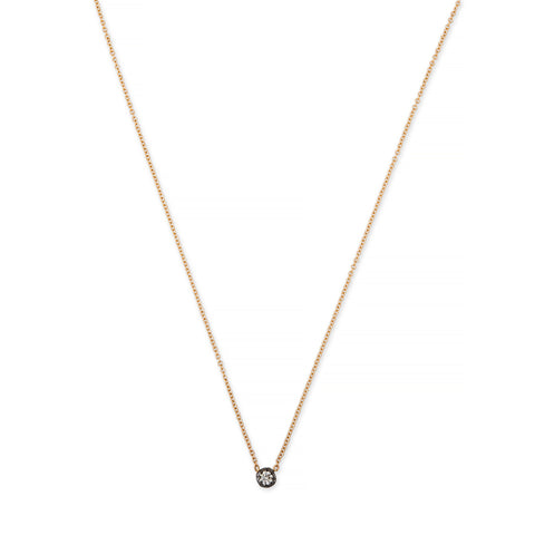 BLACK RHODIUM SINGLE SMALL SOPHIA DIAMOND NECKLACE