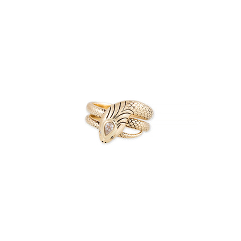 EVA TEARDROP DIAMOND HEAD SNAKE RING