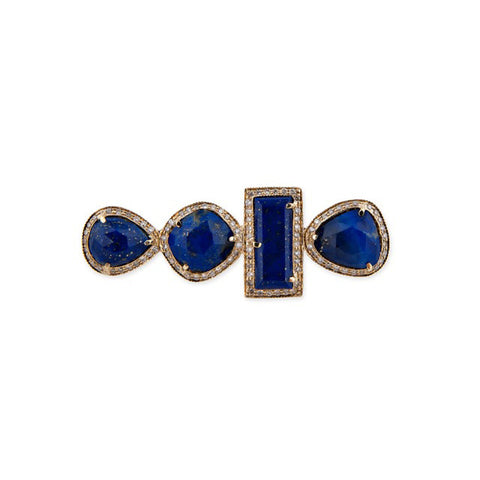 ASSORTED LAPIS KNUCKLE RING