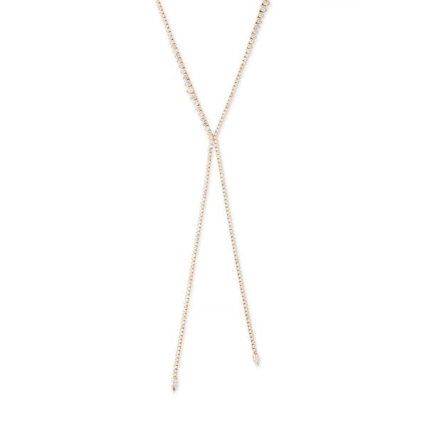 GRADUATED KATE DIAMOND BOLO NECKLACE