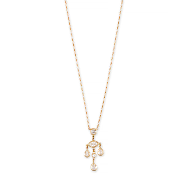 ROUND, MARQUISE + TEARDROP SOPHIA DIAMOND CHANDELIER NECKLACE