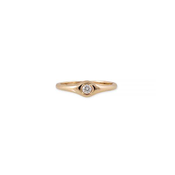 SINGLE ROUND DIAMOND RING