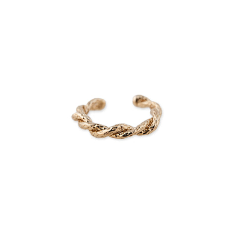 TEXTURED TWISTED EAR CUFF