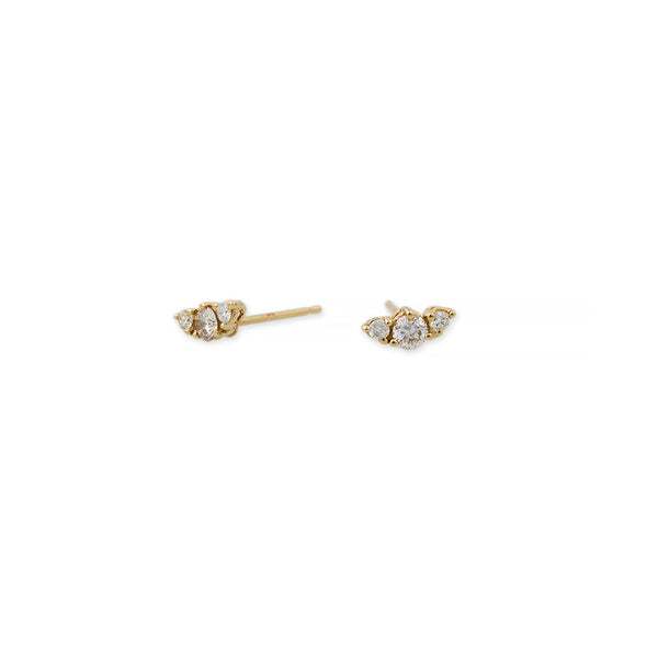 3 DIAMOND GRADUATED CURVED STUD