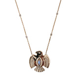 PAVE MOONSTONE EAGLE NECKLACE