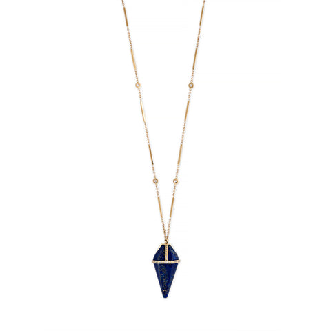 LAPIS PENDULUM NECKLACE