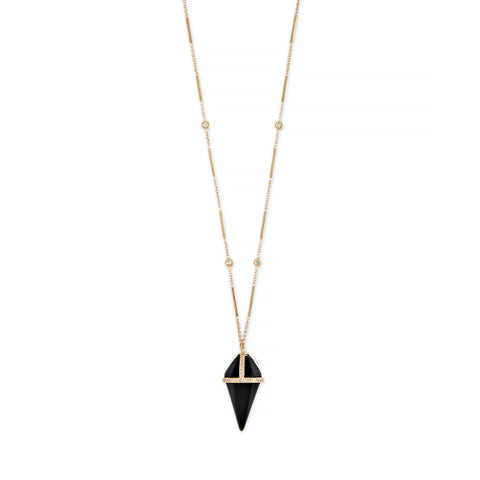 ONYX PENDULUM NECKLACE