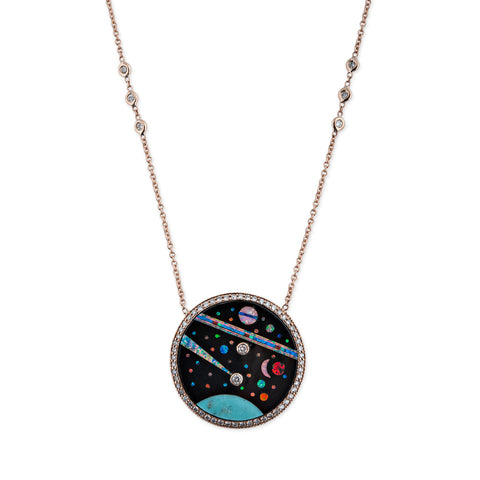 PAVE GALAXY INLAY NECKLACE