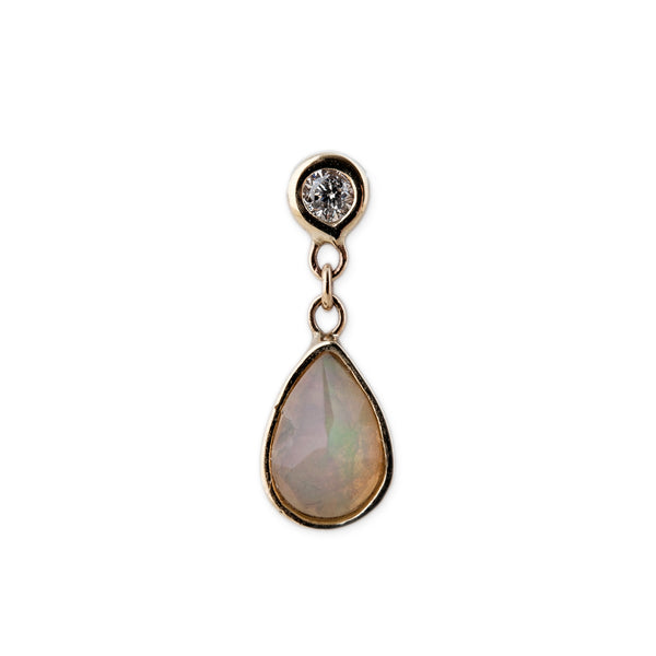 TEARDROP OPAL DROP STUD