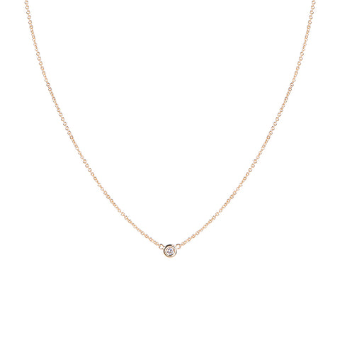 1 DIAMOND ROUND NECKLACE