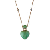 CHRYSOPRASE HEART POTION BOTTLE NECKLACE