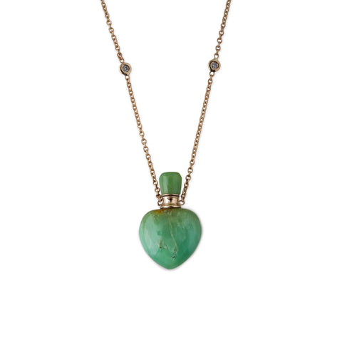 CHRYSOPRASE POTION BOTTLE NECKLACE