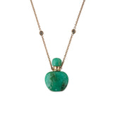 CHRYSOPRASE ROUND POTION BOTTLE NECKLACE