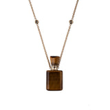 TIGERS EYE RECTANGLE POTION BOTTLE NECKLACE