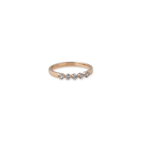 5 DIAMOND SMOOTH RING