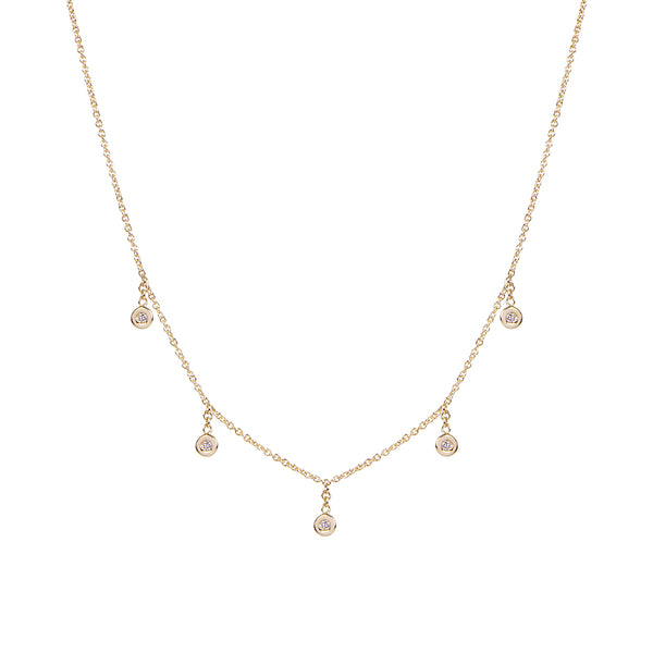 5 DIAMOND DROP NECKLACE