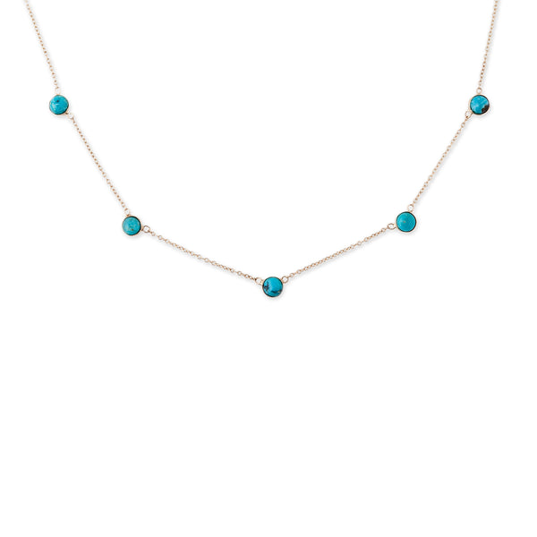 5 TURQUOISE DOME NECKLACE