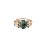 6 DIAMOND GREEN TOURMALINE MULTI WAIF RING