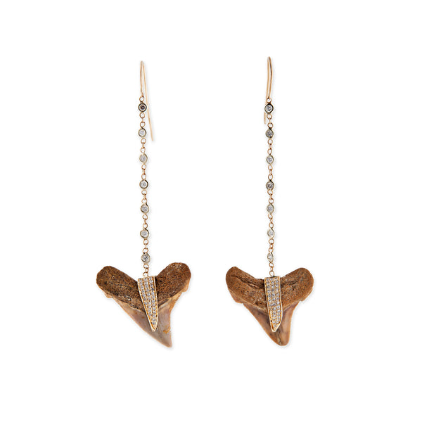 7 DIAMOND SHARK TOOTH EARRINGS