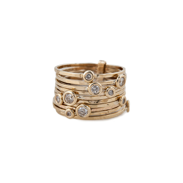 BUBBLES DIAMOND MULTI WAIF RING