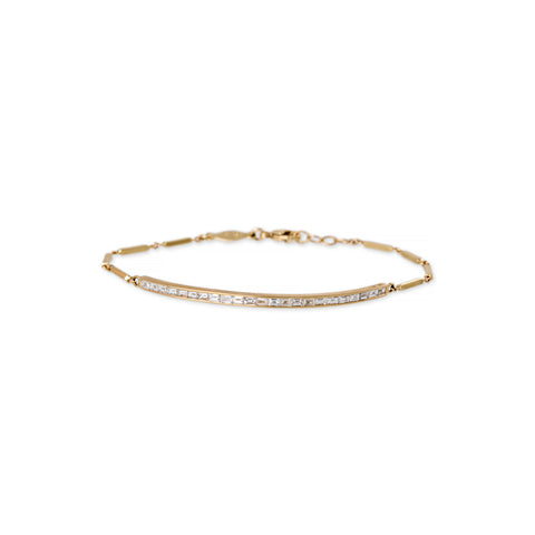BAGUETTE DIAMOND SMOOTH BAR BRACELET