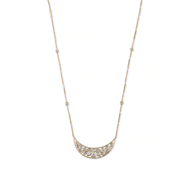 CURVED DIAMOND SHAPES NECKLACE