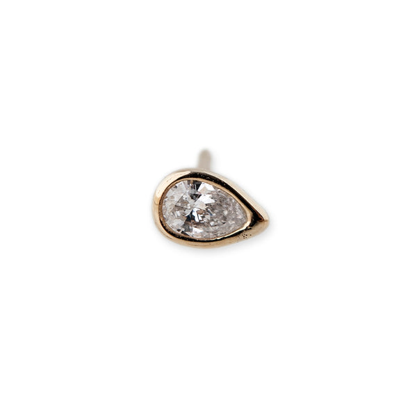DIAMOND TEARDROP STUD