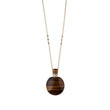 TIGERS EYE ROUND POTION BOTTLE NECKLACE