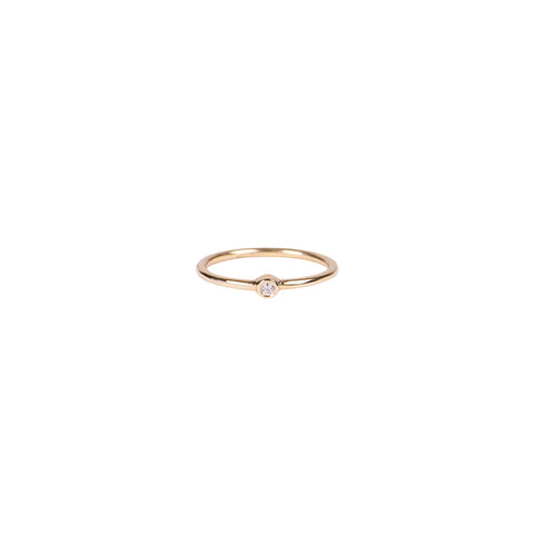 MIDI ROUND DIAMOND WAIF RING