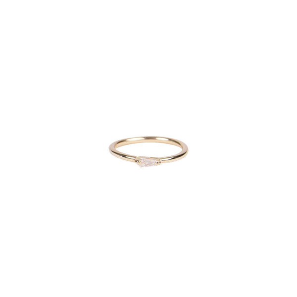 MIDI BAGUETTE DIAMOND WAIF RING