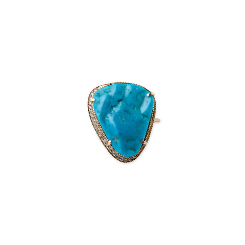 TURQUOISE GUITAR PICK RING