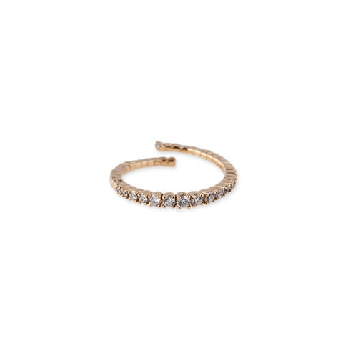 GRADUATED PAVE BENDY RING