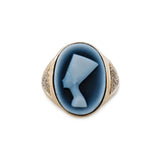 CARVED AGATE NEFERTITI CAMEO RING