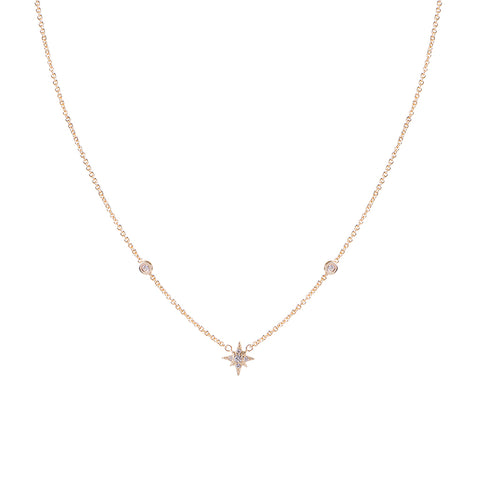 PAVE DIAMOND STAR BURST NECKLACE