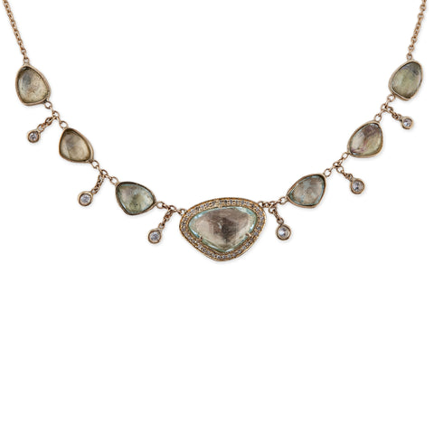GREEN TOURMALINE SHAKER NINA NECKLACE