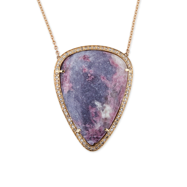 TEARDROP PURPLE EPIDOLITE NECKLACE