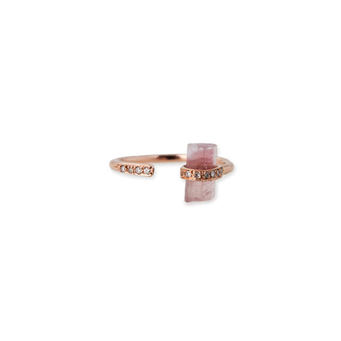 GEMSTONE BAR WRAP RING
