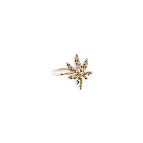 PAVE MINI SWEET LEAF WAIF RING