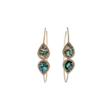 MIRRORED GEMSTONE TEARDROP HOOPS