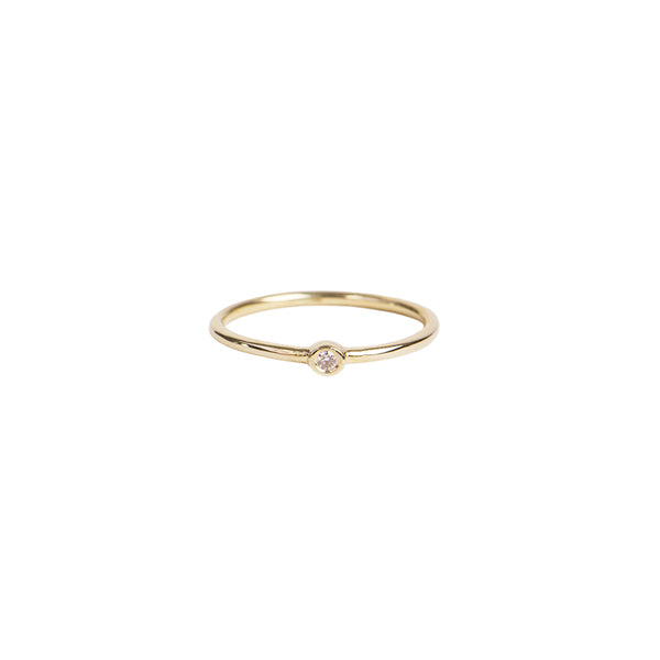 ROUND DIAMOND BEZEL WAIF RING