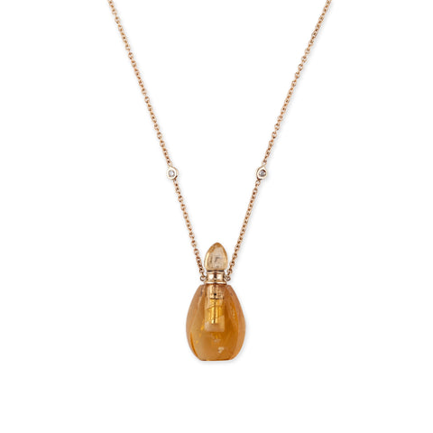 CITRINE ALADDIN POTION BOTTLE NECKLACE