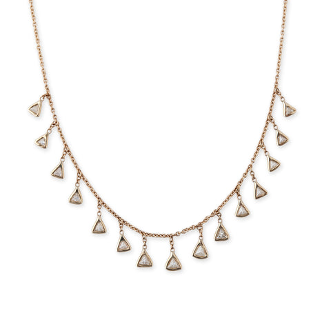 Trillion Diamond Shaker Necklace