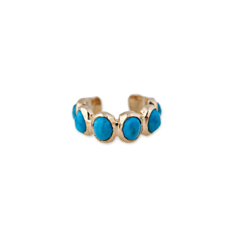TURQUOISE ETERNITY EAR CUFF