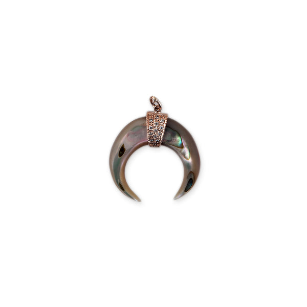 ABALONE DOUBLE HORN CHARM