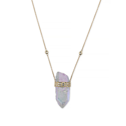 AURA QUARTZ CRYSTAL NECKLACE